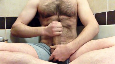 Dad, Daddy gay, Hairy masturbation, Gay shower