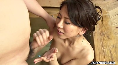 Sauna, Japanese milf, Asian cumshot, Asian shower