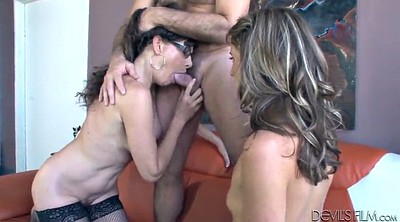 Mom threesome, Mom and daughter, Sharing, Daughter threesome