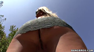 Long hair, Nature, Busty anal pov
