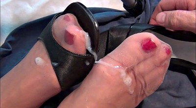 Heels, Shoe, Cum shoe, Nylon feet, Nylon foot, Stocking foot