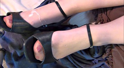 Heels, Shoes, Stocking feet, Nylon feet, Part