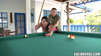 Pool, Table, Sandra, Pool table
