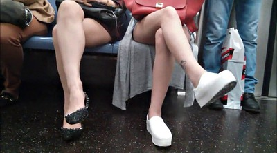 Train, Leg, Asian voyeur