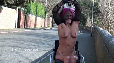 Flash, Wheelchair, Caprice, Public pussy, Leah, Fan