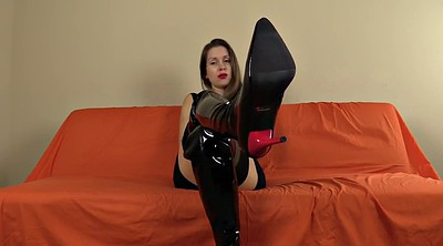 Boot, Pantyhose foot, Pantyhose fetish, Femdom foot, Boots fetish