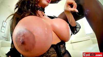 Large, Huge boobs, Big black cock