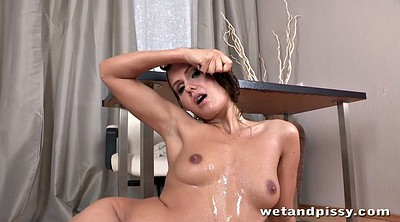 Squirting orgasms, Torn, Table, Pantyhose toys