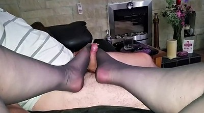Nylon feet, Nylon foot, Nylons, Foot nylon, Feet cum