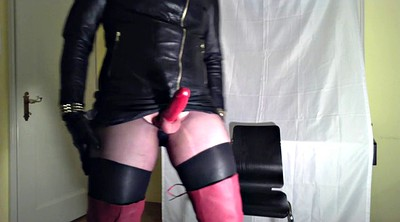 Milking, Gloves, Crossdress, Big milk, Leather, Glove