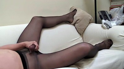 Pantyhose, Crossdresser, Solo pantyhose, Solo dress, Pantyhose masturbate, Ebony pantyhose