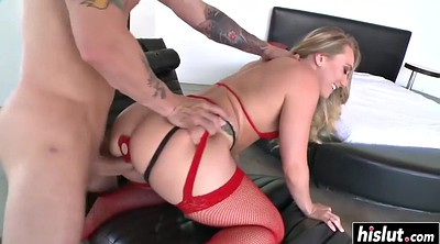 Red, Amazing, Anal beauty, Blonde stockings, Beautiful tits