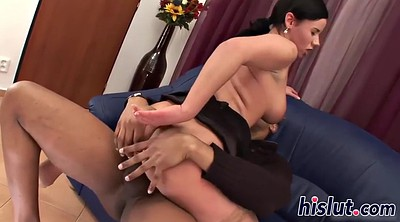 Hairy, Interracial creampie, Hairy busty
