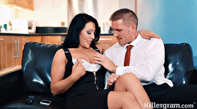 Big tits, Wife blowjob, Gift, Busty wife