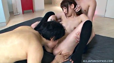 Handjob, Stockings handjob, Asian doggystyle