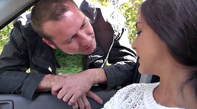 Big natural tits, Filming, Outdoor blowjob