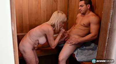Busty, Granny boy, Mature facials