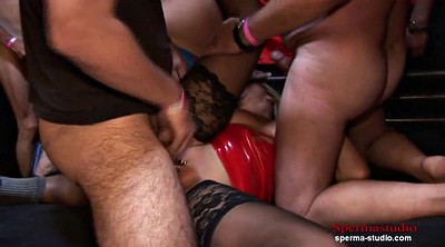 Bukkake, German milf, Marina, German gangbang