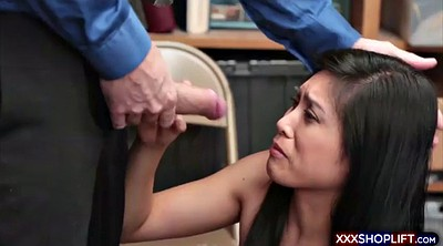 Shoplifter, Office asian, Caught fucking