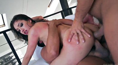 Double anal, Asian threesome