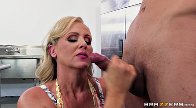 Julia ann, Milf mature, Mature kitchen, Sucking balls, Balls sucking, Ball licking