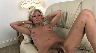 Hairy blonde, Granny solo, Hairy solo