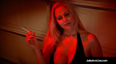 Julia ann, Julia, Smoking mature, Smoke, Mega tits, Mature smoking