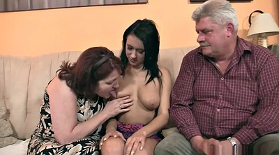 Group granny, Old couple, Young son, Mature son, Young threesome, Sons girlfriend
