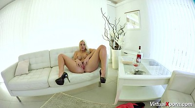 Blond masturbation, Virtual