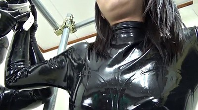 Japanese black, Bondage handjob, Catsuit, Latex bondage, Japanese bondage, Japanese latex