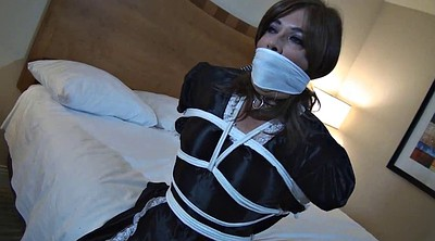 Maid, Helpless, Crossdresser bondage, Crossdress