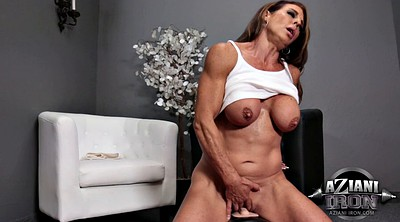 Riding, Solo mature, Mature orgasm, Milf orgasm, Muscle milf, Fingering solo