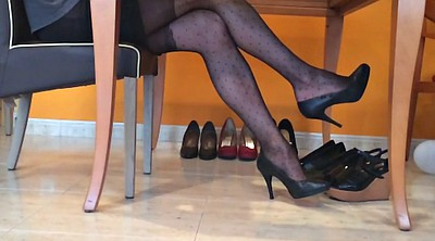 Pantyhose foot, Pantyhose fetish, Ebony foot, Black nylon foot