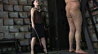 Slave, Caning, Femdom caning