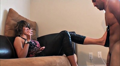 Slave, Heels, Smoking, Foot slave, Smoking teen, Slave foot