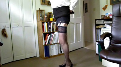 Heels, Crossdresser, Stockings solo, Solo stocking