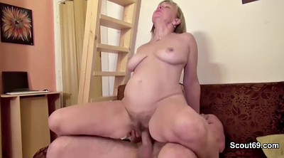 First time, First, Big tits granny, Money, Mature casting, Mom and
