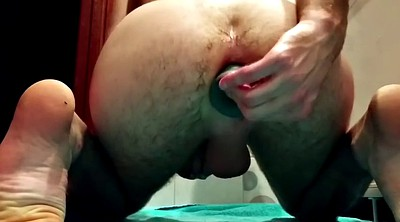 Gape, Huge dildo, Gay fist, Stuffing