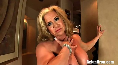 Big clit, Mature solo, Muscle girl