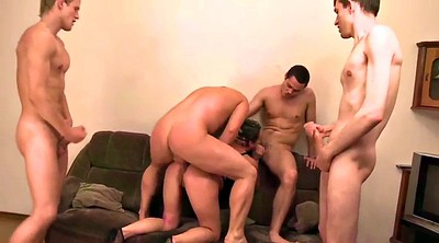 Boy, Double, Old and young, Mom and boys, Mature double, Mature and boys