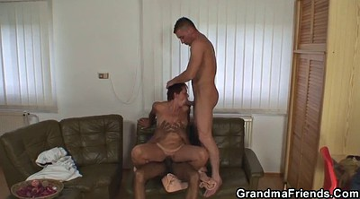 Old, Grandma, Mature threesome, Granny threesome, Old grandma, Mature young