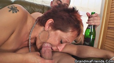 Grandma, Young milf, Wife riding, Grandmas, Mature wife