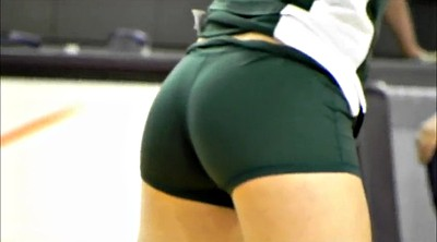 Sport, Spandex, Sports, Volleyball, Short shorts, Green