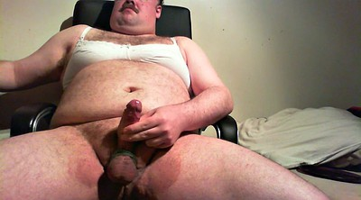 Bra, Fat guy, Jerk off, Fat gay, Pant, Jerk