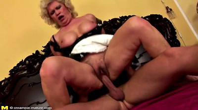 Mom creampie, Hairy mom