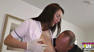 Milf handjob, Uniform