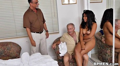 Nurse, Black nurse, Old men, Black men, Big tits granny