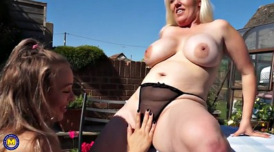 Big tits mom, Old and young lesbian, Mom daughter, Mom and daughter, Mature and young lesbians