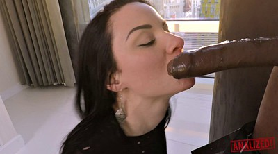 Interracial, Lipstick, Riding cock, Lipstick blowjob, Interracial anal hd