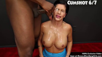 Cumshot compilation, Facial compilations